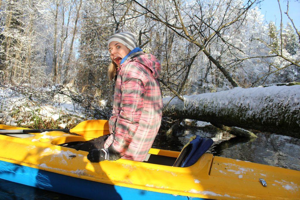 Zimowy spływ kajakowy PT SZOT