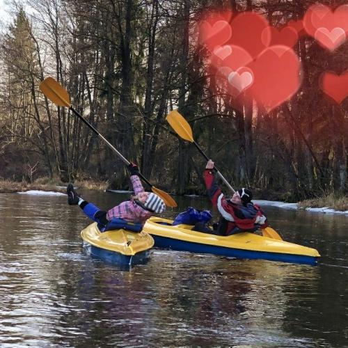 Valentine's Day in kayak 2021
